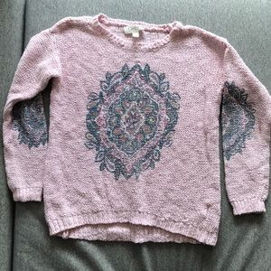 Pink sparkly sweater